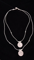 Fair Trade Silver Plated Bullet Casing Bead Necklace with Cross from Ethiopia