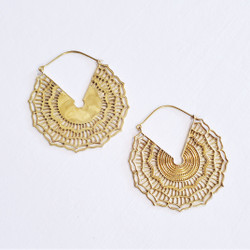 Fair trade brass hoop earrings