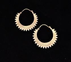 Fair trade brass hoop earring from India