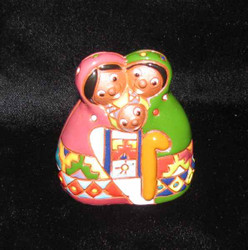 Fair Trade Ceramic Holy Family Nativity from Bolivia