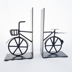 Fair Trade Wire Bicycle Bookends from India