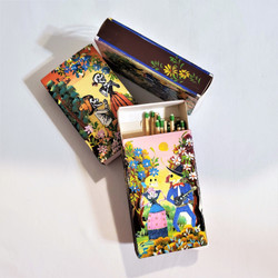Fair trade hand painted Day of the Dead skeleton match box from Peru