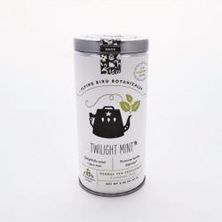 Fair trade twilight mint tea bags in tin