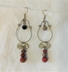 Fair Trade Upcycled Sari Earrings from India