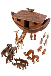 Fair Trade Carved Noah's Ark and Animals from Kenya