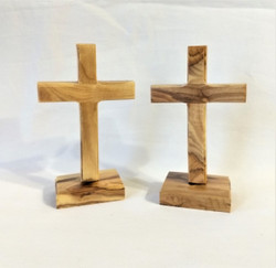Fair Trade Small Carved Olive Wood Cross from the Holyland
