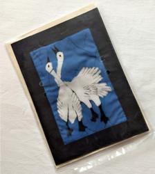 Fair trade batik swan note card from Nepal.