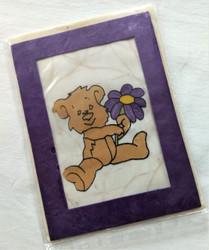 Fair Trade Batik Teddy Bear Note Card from Nepal