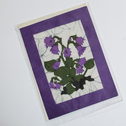 fair trade purple flower note card from nepal