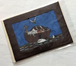 Fair Trade Batik Noah's Ark Note Card from Nepal