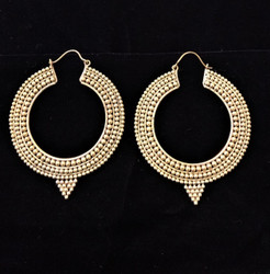 Fair Trade Brass Earrings from India