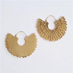 fair trade brass hoop earrings from India