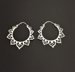 Fair Trade Sterling Silver filigree Hoop Earrings from India
