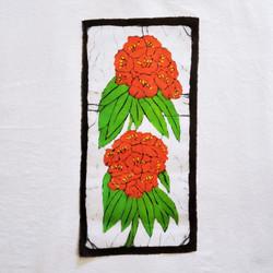 fair trade batik rhododendron wall art from nepal