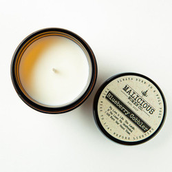 malicious women blueberry cobbler scented soy candle