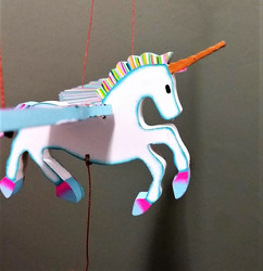Fair Trade Flying Unicorn Mobile from Colombia
