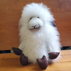 Fair Trade Alpaca Fiber Stuffed Sheep from Peru