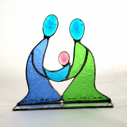 Fair Trade Recycled Glass Holy Family from Kenya
