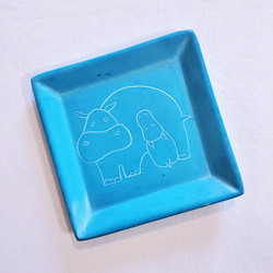 Fair Trade Carved Soapstone Dish with Hippo from Kenya