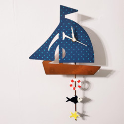 Fair Trade Recycled Metal Sailboat Clock from Colombia