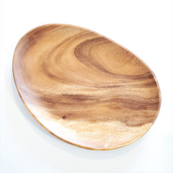 Fair trade acacia wood serving tray from Philippines