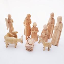 Fair Trade Carved Fanazava Wood Nativity from Madagascar