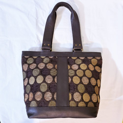 Fair Trade Dhaka Fabric Purse with Leather Trim from Nepal
