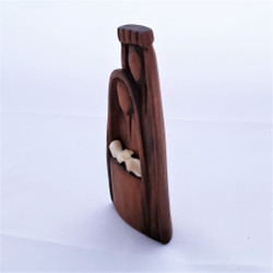 Fair Trade Sandalwood and Bone Holy Family from Mozambique