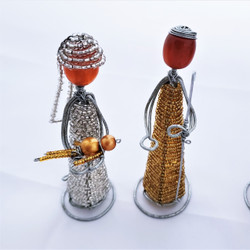 Fair Trade Glass Bead and Wire Nativity Set from Kenya