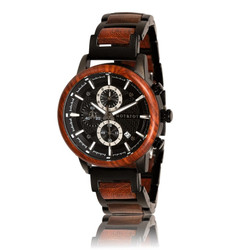 Fair trade governor wood watch from Netherlands