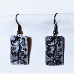 Fair Trade Pewter Tree of Life Earrings from India