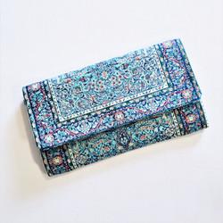 Fair trade turkish rug inspired wallet