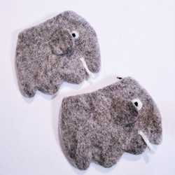 fair trade felted wool elephant coin purse from Nepal