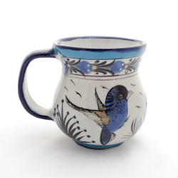 Fair Trade Hand Painted Ceramic Bird Mug from Guatemala