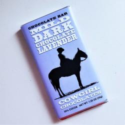 ethically sourced mild dark chocolate with lavendar truffle bar