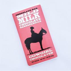 ethically sourced mild milk chocolate sarsaparilla truffle bar