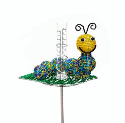 Fair trade beaded caterpillar rain gauge from Haiti