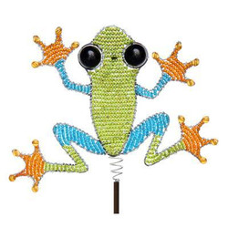 Fair Trade Beaded Tree Frog Garden Stake from Haiti
