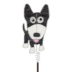 Fair Trade Beaded Dog Garden Stake from Haiti
