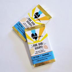 fair trade pure dark chocolate bar from Haiti