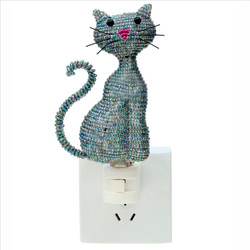 Fair trade beaded cat night light from Haiti