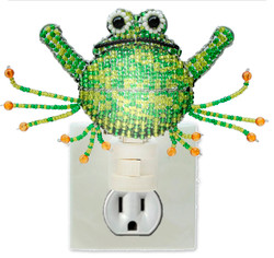 Fair trade beaded frog night light from Haiti