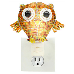 Fair trade beaded owl night light from Haiti