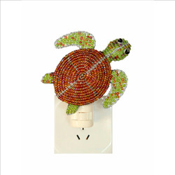 Fair trade beaded sea turtle night light from Haiti