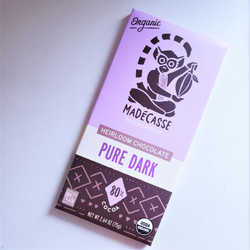 Ethically Sourced Madecasse Pure Dark Chocolate Bar from Madagascar