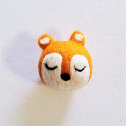 fair trade felted wool fox cat toy from Kyrgyzstan