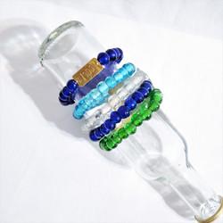Recycled Glass Bracelet from Kenya with Wisdom Charm