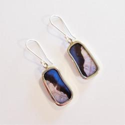 Fair trade butterfly wing earrings from Peru