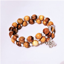Fair Trade Olive Wood Bracelet from the Holyland