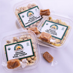 Sea Salt Caramels with Organic Dry Roasted Flavored Cashews